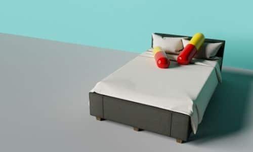 somnifère pilule sur lit